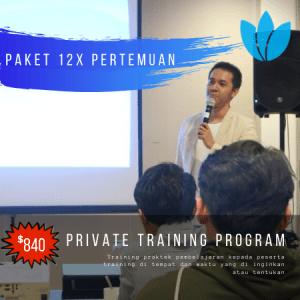 Paket 12x private training