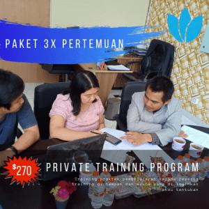 Paket 3x private training