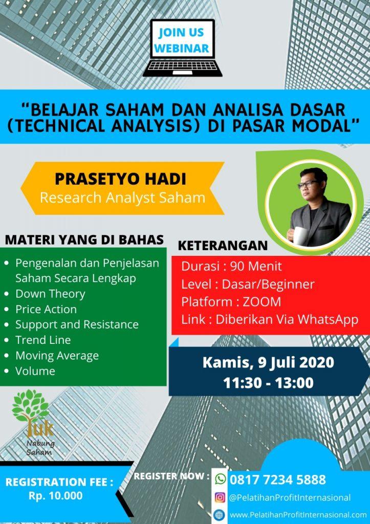 Webinar Live Bersama Prasetyo Hadi