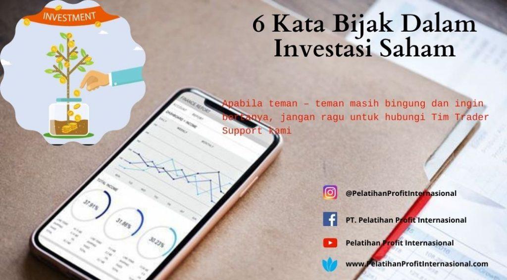 6 Kata Bijak Dalam Investasi Saham